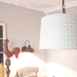 DIY Hanging {Drum} Light Fixture