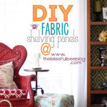 DIY Fabric Inserts for Shelving