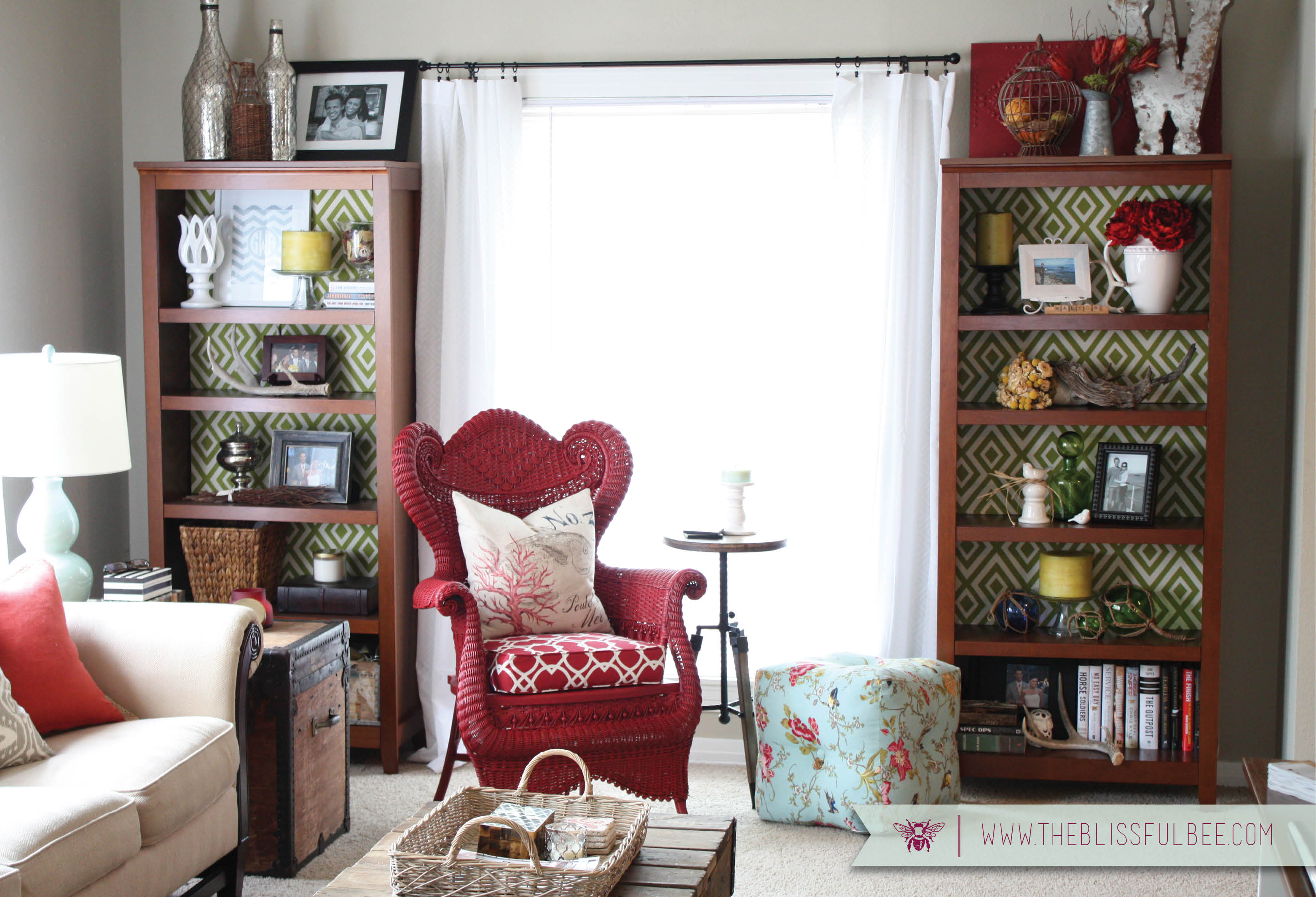Living Room Reveal – THE BLISSFUL BEE