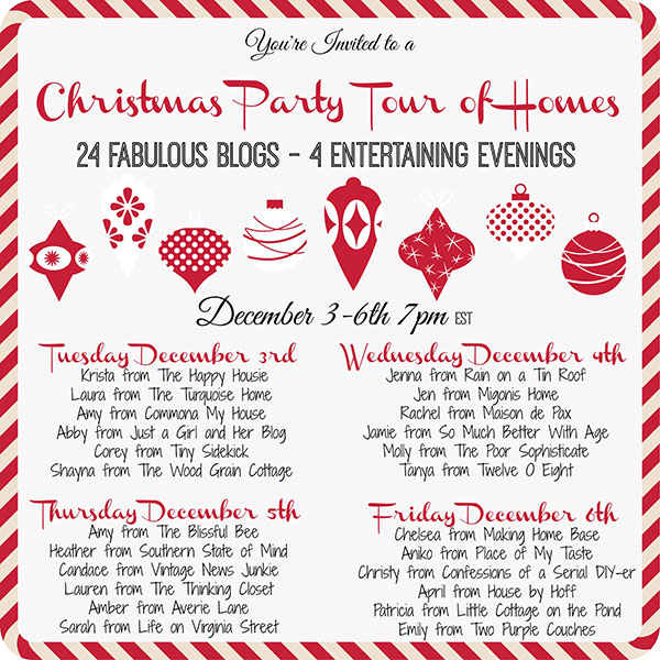 Christmas Party Tour of Homes graphic