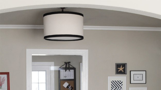 """DIY Drum Pendant """"Cover Up"""" Light – THE BLISSFUL BEE"""