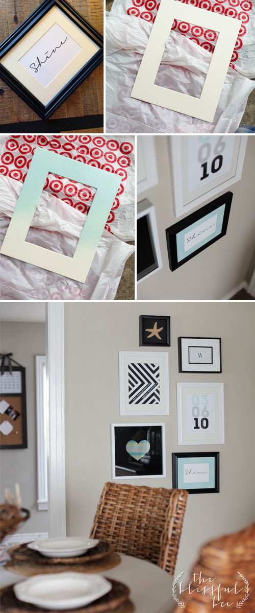 DIY Painted Frame Mat – THE BLISSFUL BEE