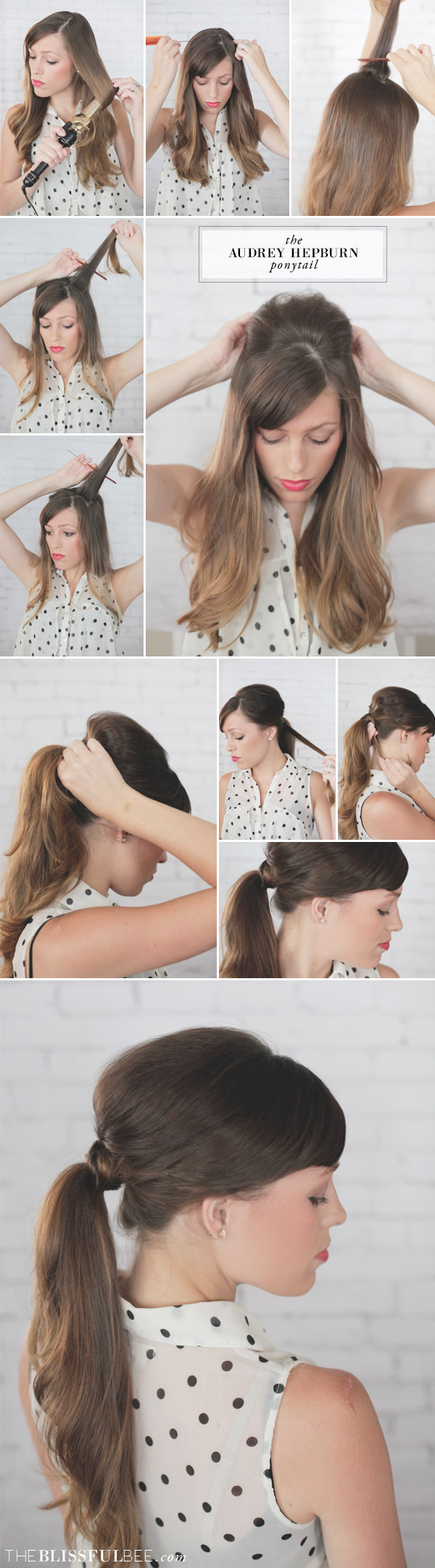 Audrey Hepburn Ponytail - The Blissful Bee