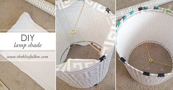 Diy lamp shade kit the blissful bee diylampshadetutorial mozeypictures Image collections