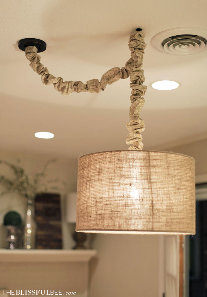 diy no sew cord cover the blissful bee. Black Bedroom Furniture Sets. Home Design Ideas