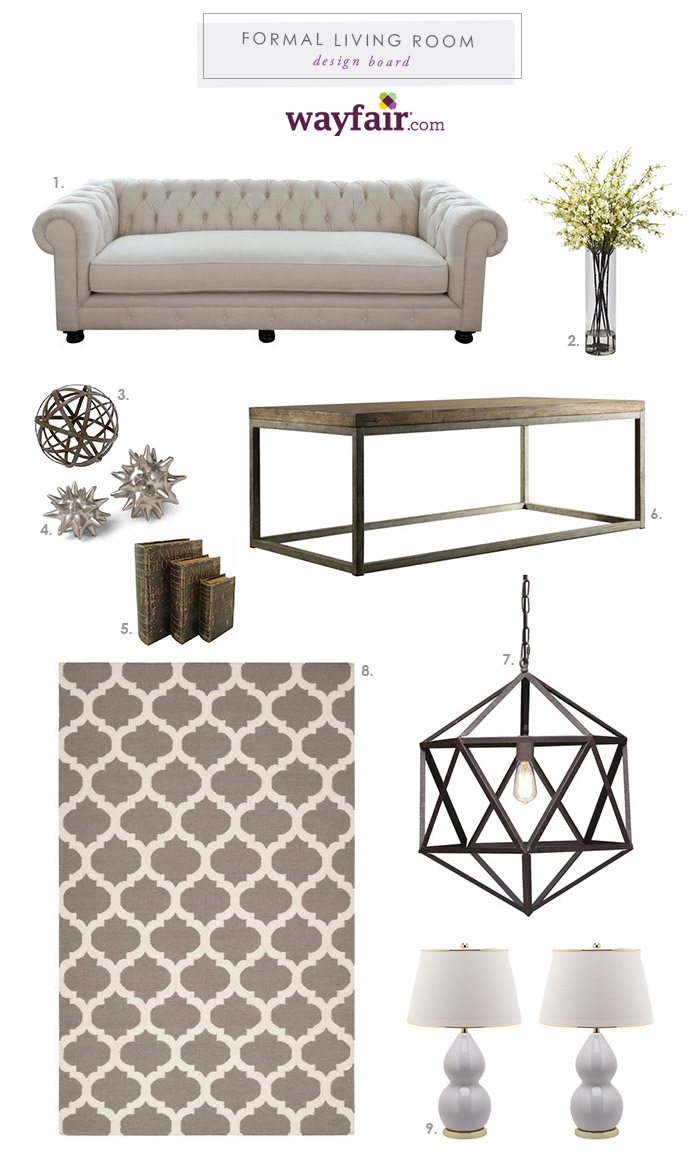 Formal Living Room Design Plan With The